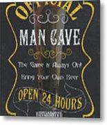Official Man Cave Metal Print