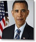 Official Portrait Of President Barack Metal Print by Everett