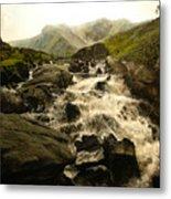 Ogwen Falls Metal Print