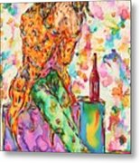 Oh Bottle Of Wine Metal Print