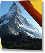 Matterhorn Camping Metal Print