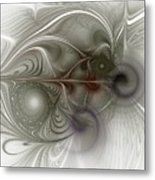 Oh That I Had Wings - Fractal Art Metal Print