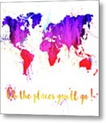 Oh The Places Metal Print