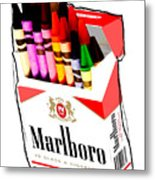 Oh These Arnt Cigarettes Just Crayons Metal Print