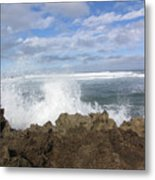 Ohau Splash Metal Print