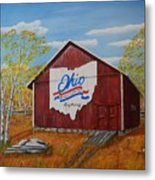Ohio Bicentennial Barns 22 Metal Print