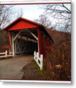 Ohio Covered Bridge Metal Print