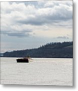 Ohio River Barge  Metal Print