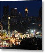 D3l-464 Ohio State Fair With Columbus Skyline Metal Print