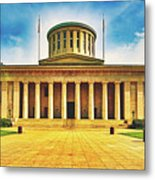 Ohio Statehouse Metal Print