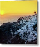 Oia Town , Santorini Island, Greece Metal Print