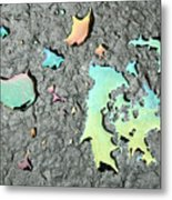 Oil Abstract Metal Print