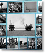 Oil And Gas Industry Metal Print