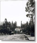Oil Field Residential Los Angeles C. 1901 Metal Print