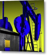 Oil Industry Well Pump Metal Print