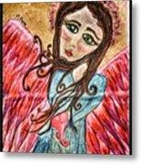 Oil Pastel Angel Metal Print