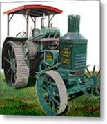 Oil Pull Tractor Metal Print