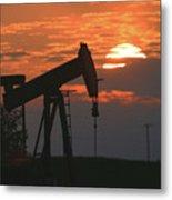 Oil Pump Jack 6 Metal Print