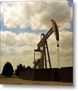 Oil Pumpjack Metal Print