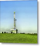Oil Rig In North Dakota Metal Print
