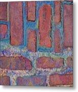 Oil Soaked Bricks Metal Print