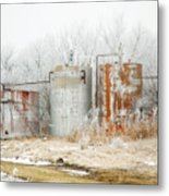 Oil Tank Farm Metal Print