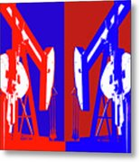 Oil Well Pump Abstract Metal Print