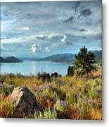 Okanagan Lake In The Spring Metal Print