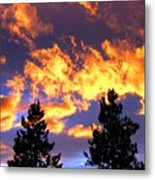 Okanagan Sunset Metal Print
