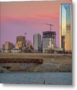 Okc Sunset Metal Print