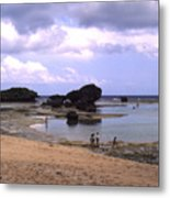 Okinawa Beach 3 Metal Print