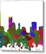 Oklahoma City Skyline Painted Metal Print