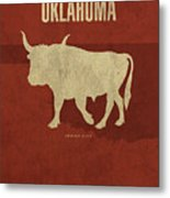 Oklahoma State Facts Minimalist Movie Poster Art Metal Print