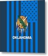 Oklahoma State Flag Graphic Usa Styling Metal Print