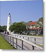 Okracoke Island Lighthouse Metal Print