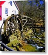 Old 1886 Mill Metal Print by Karen Wiles