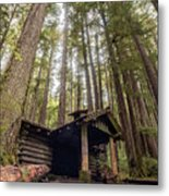 Old Abandoned Cabin In The Woods Metal Print