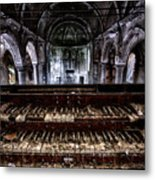 Old Abandoned Church Organ In Decay Metal Print