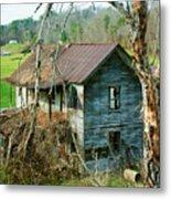 Old Abandoned Rural Hose Metal Print