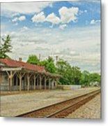 Old Abandoned Train Depot Metal Print