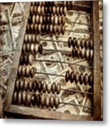 Old Accounting Wooden Abacus Metal Print