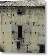 Old Adobe Building In Otavalo Metal Print