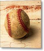 Old American Baseball Metal Print