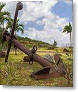 Old Anchor In Kauai Metal Print
