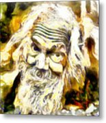 Old And Happy Man Metal Print