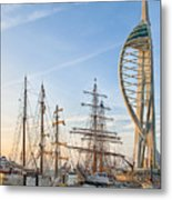Old And New At Gunwharf Quays Metal Print