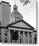 Old And New Florida State Capitol Buildings Metal Print