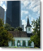 Old And New Houston Metal Print