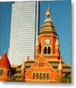 Old And New In Dallas Metal Print