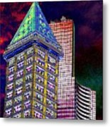 Old And New Seattle 2 Metal Print